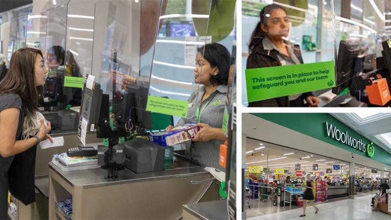 Woolworths to install protective screens